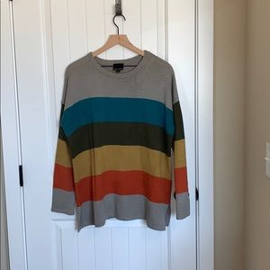 Sweet Claire striped sweater.